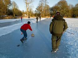 Kirkcowan Curling Club on Craighlaw Loch