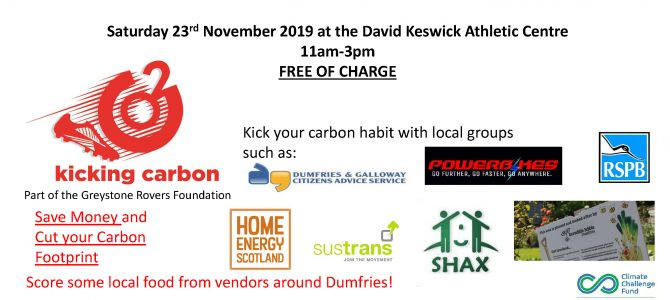 Kicking Carbon Event – 23rd November