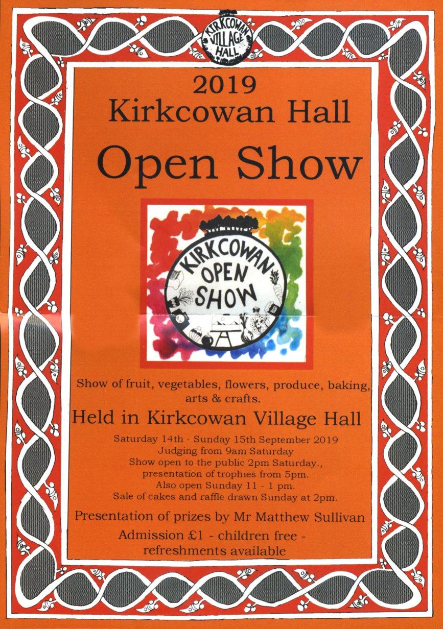Kirkcowan Open Show 2019