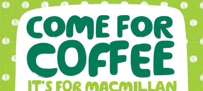 Macmillan Coffee Morning 15th Sept