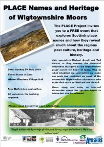 The PLACE Project invites you to a FREE event that explores Scottish place names and how they reveal much about the regions past culture, heritage and history.