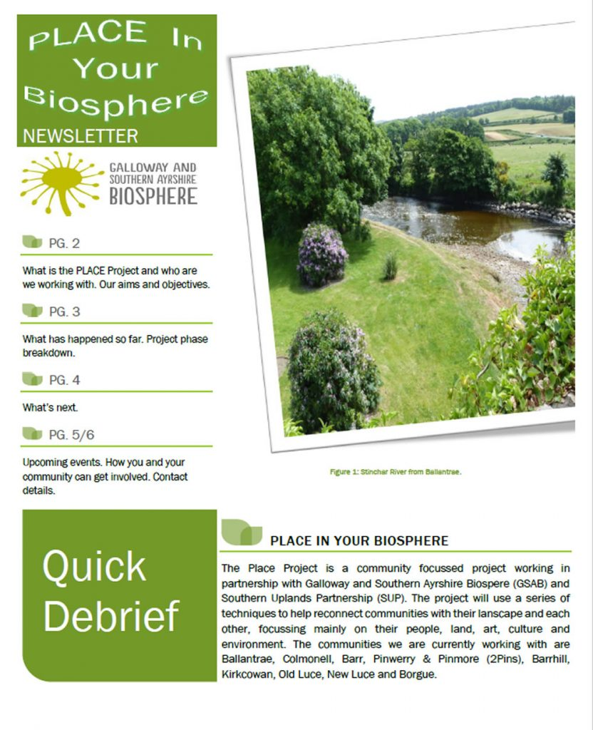PLACE In the Biosphere Newsletter, first edition