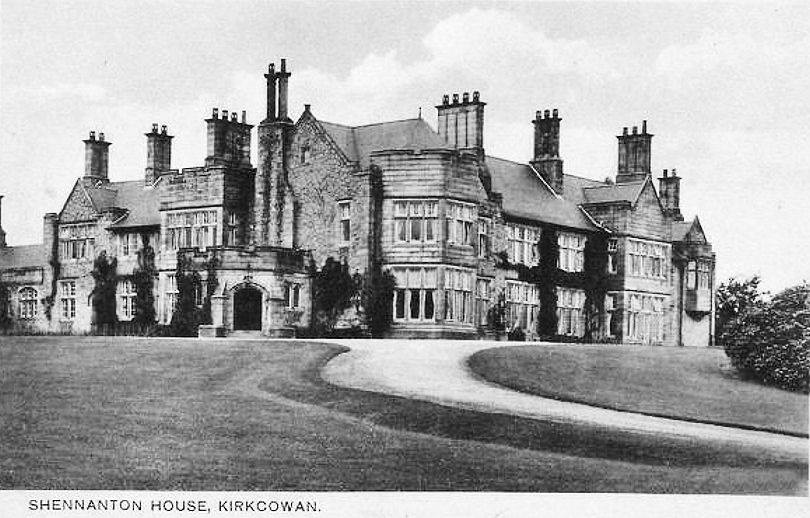 Between 1910 and 1913, the magnificent Shennanton House, two laundry houses, garages and two further houses, the walled garden, the gardener's house, Corrybracken (for the Estate Factor), and Mark of Shennanton were constructed.